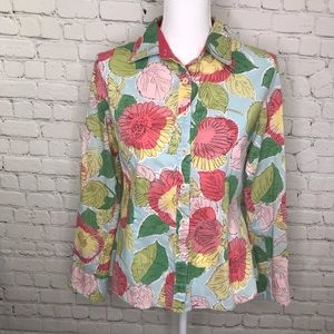 Boden Floral/Leaf Button Down Shirt